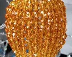 Beaded Pendant Light Shade Large Pressed Glass Beaded Bulb Cover Pendant Lamp Shade