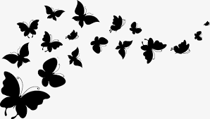 floating black butterfly float black butterfly png and vector