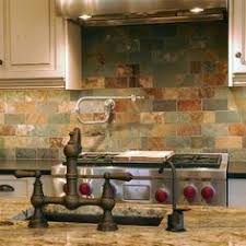 slate backsplash tiles for kitchen subway tile sized slate for backsplash this would look even