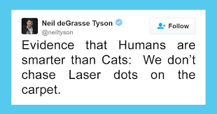 Neil Degrasse Tyson Reaction Meme - neil degrasse tyson tries to make fun of cats on twitter gets