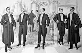 Mens Formal Wear Guide Black Tie Guide History Edwardian Era
