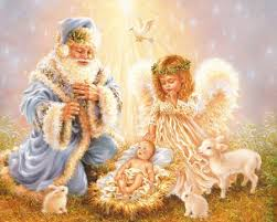 santa and baby jesus picture santa and baby jesus wallpaper on markinternational info