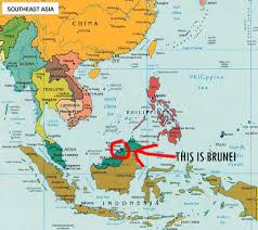 brunei map in world brunei country in world map