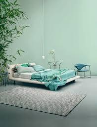 plante verte chambre à coucher adopter la couleur pastel pour la maison