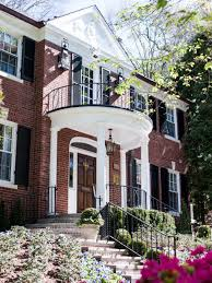 front porches on colonial homes the front of this colonial brick home features a walk up