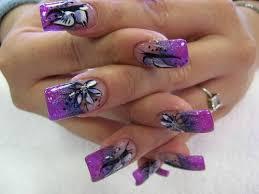 purple nail designs acrylic nails simple nail design ideas