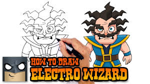 how to draw electro wizard clash royale youtube