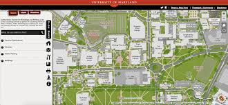 Washington University Campus Map by Umd U0027s Campus Maps Update Gives Users Real Time Directions To