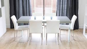 White Leather Dining Chairs Chair Heals Arbori Dining Table 4 6 Seater Grey Wash Wild Oak 602