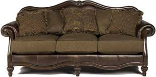 Tufted Leather Chaise Mahogany And More Accent Chairs Claremore Old World Tufted