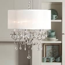 update any dining room with this elegant drum shade chandelier