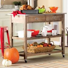 kitchen island stainless steel top stainless steel kitchen islands carts you ll wayfair