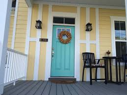 aqua door yellow house paint colors sw cooled blue sw peace