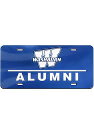 msu alumni license plate frame shop washburn ichabods car accessories