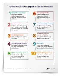 top 10 characteristics of effective grammar instruction