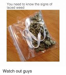 Watch Out Guys Meme - you need to know the signs of laced weed watch out guys meme on