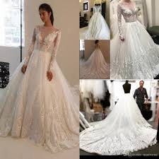 vintage plus size wedding dresses with long sleeve lace applique