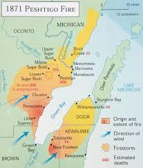 Lake Michigan Shipwrecks Map by Wisconsin History