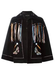Cape Designs by Buy Valentino Valentino Butterfly Embroidery Cape Women Clothing