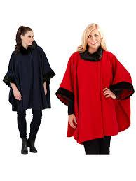 womens la s faux fur collar shawl throw cape wrap poncho winter