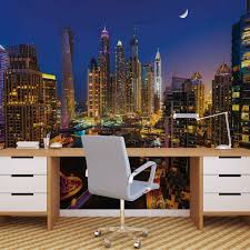 city dubai skyscraper night wall paper mural buy at europosters price from