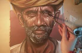 speed painting an indian portrait youtube