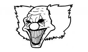 easy scary drawings easy scary clowns colouring pages for coloring