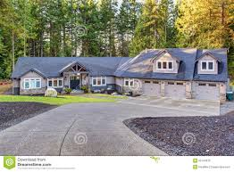 beautiful house with driveway stock photo image 55744978