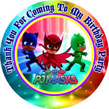 12 pj masks birthday party favor stickers bags included 8