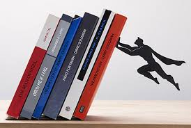 Unique Bookends Superhero Bookends Keep Your Books Safely Elevated Mental Floss