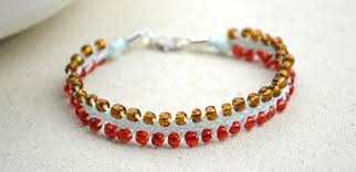 diy braided bracelet with beads images How to weave diy 3 strand braid friendship bracelet with seed jpg