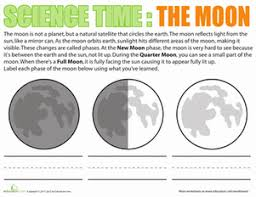 the moon a natural satellite worksheet education com