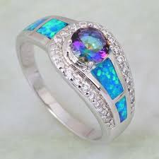 opal silver rings images Mystic topaz opal silver ring silver plated atperrys jpg