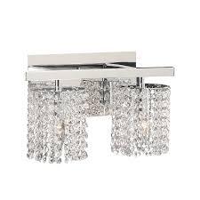 shop plc lighting rigga 2 light 9 in polished chrome waterfall