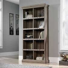 Bedroom Set In Salt Oak Barrister Lane Collection Salt Oak Finish 10 Shelf Tall Bookcase