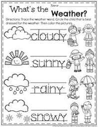 Kindergarten Weather Worksheets December Preschool Worksheets Weather Worksheets Preschool
