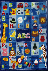 Boys Room Area Rug by Amazon Com Fun Rugs Ft 95 3958 Fun Time Letters U0026 Names Kitchen