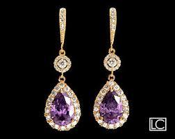 Chandelier Earrings Etsy Purple Gold Earrings Etsy
