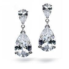 teardrop diamond earrings buy bridal teardrop earrings and get free shipping on aliexpress
