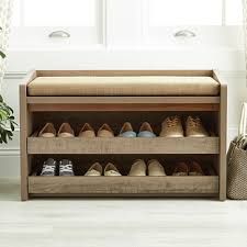 Bench With Shoe Storage Shoe Storage Benches The Container Store