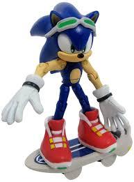 amazon com sonic free riders sonic the hedgehog action figure