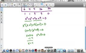 finding roots of polynomial equations