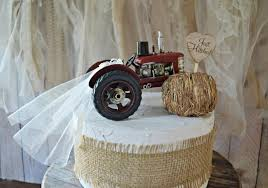 tractor wedding cake topper farm tractor wedding cake topper barn country farmer cow hay