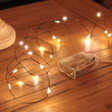 2m black micro wire battery fairy lights 20 leds