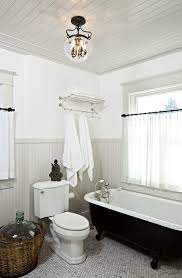 Bathroom With Beadboard Walls by Gray Beadboard Cottage Bathroom Jessica Helgerson Interior