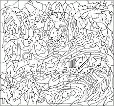 complex color by number coloring pages free android coloring