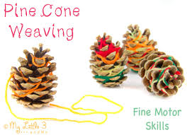 nature inspired craft pine cone weaving pine cone motor