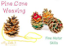 nature inspired craft pine cone weaving