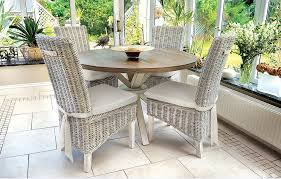 Fabulous White Rattan Dining Room Wicker Chairs In A Shabby Dining - Round dining table with wicker chairs