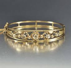 rose bangle bracelet images Antique gold rose cut diamond bangle bracelet boylerpf jpg